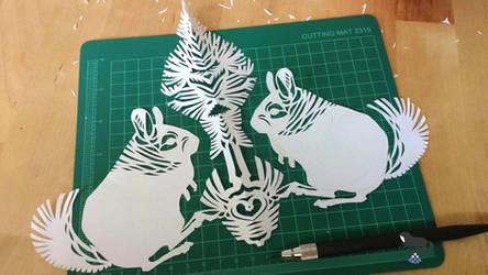 Chinchilla paper cutting by OblokMagellana