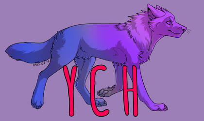 $5 YCH Walking Wolf