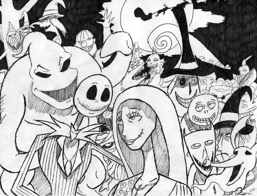 All Nightmare Before Christmas Characters Drawings Images & Pictures ...