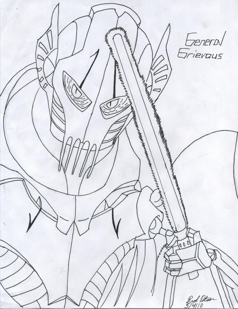 General grievous printable coloring sheet coloring pages for General grievous coloring page