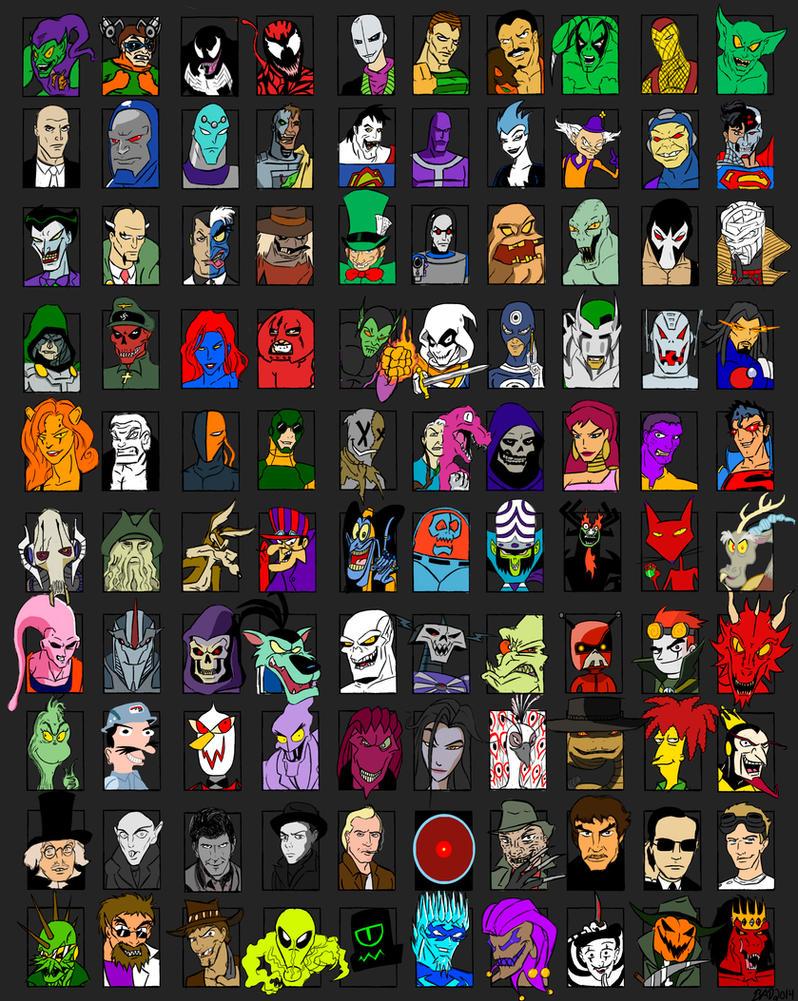 Brad's 1000 Character Meme - Part 9 - Villains by ...