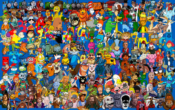 6 - 200 Favorite Childhood Characters Collage