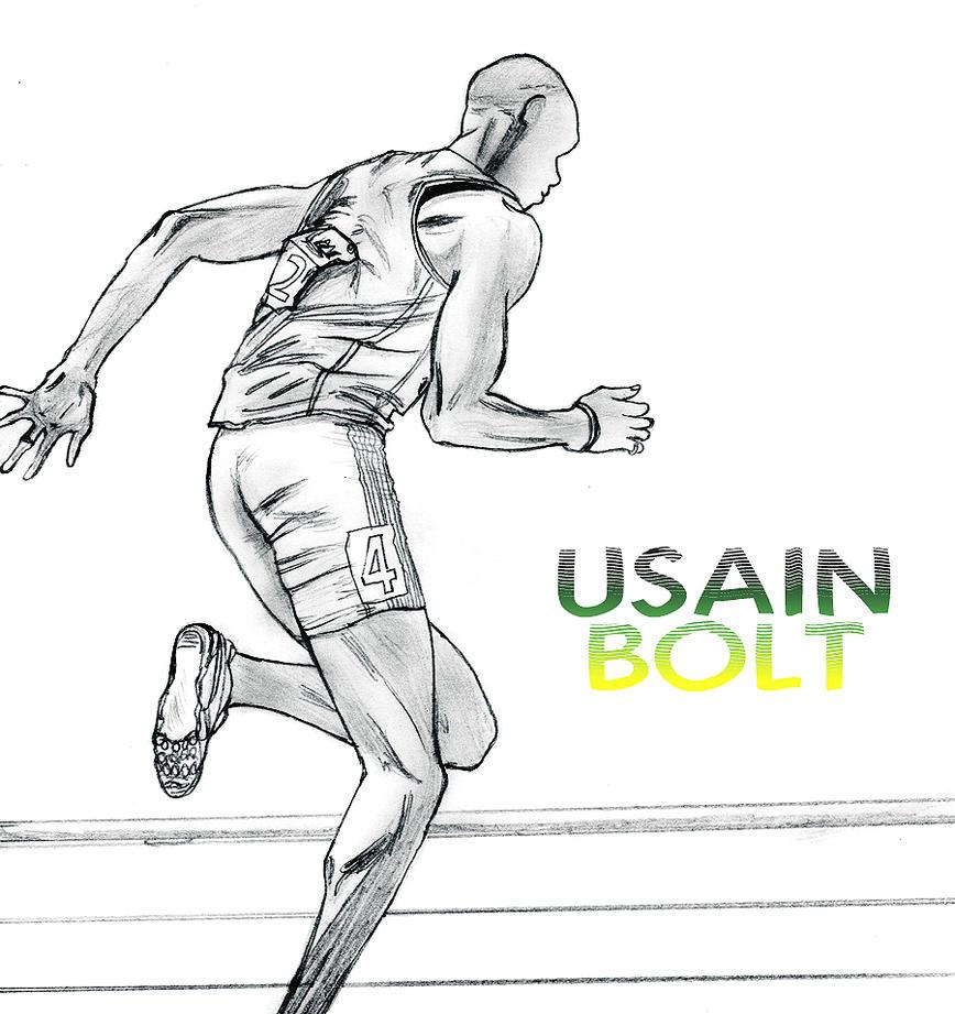 Usain Bolt Running by candycotmer on DeviantArt