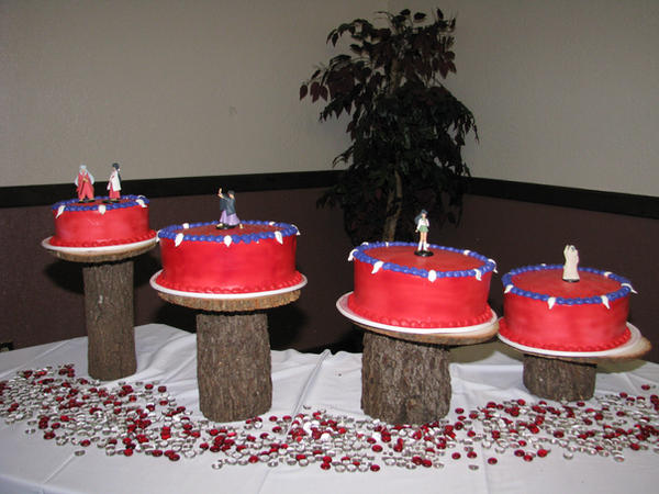 Inuyasha Wedding Cakes by kikyo4ever