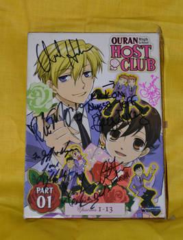 Ouran High School Host Club DVD Set Signed by kikyo4ever