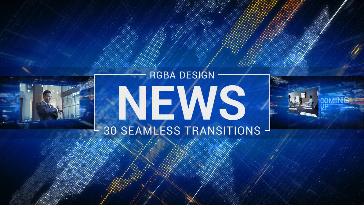 News Transitions After Effects Template by RGBA-Design on
