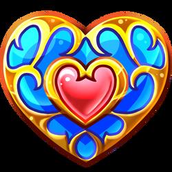 Custom Colour Zelda Heart by zanarkand-sky