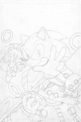 Sonic The Hedgehog FCBD 2016 - Pencil by SnakeDiver