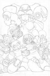 Mega Man #55 pg3 - Pencil by SnakeDiver