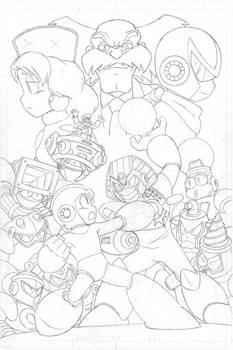 Mega Man #55 pg3 - Pencil
