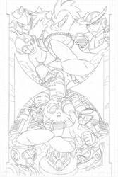 Mega Man #55 pg4 - Pencil by SnakeDiver