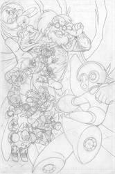 Mega Man #55 pg7 - Pencil by SnakeDiver
