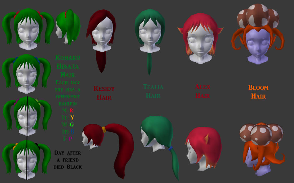 Delinquents Simulator also Ive Made 5 Hairstyles For Yandere