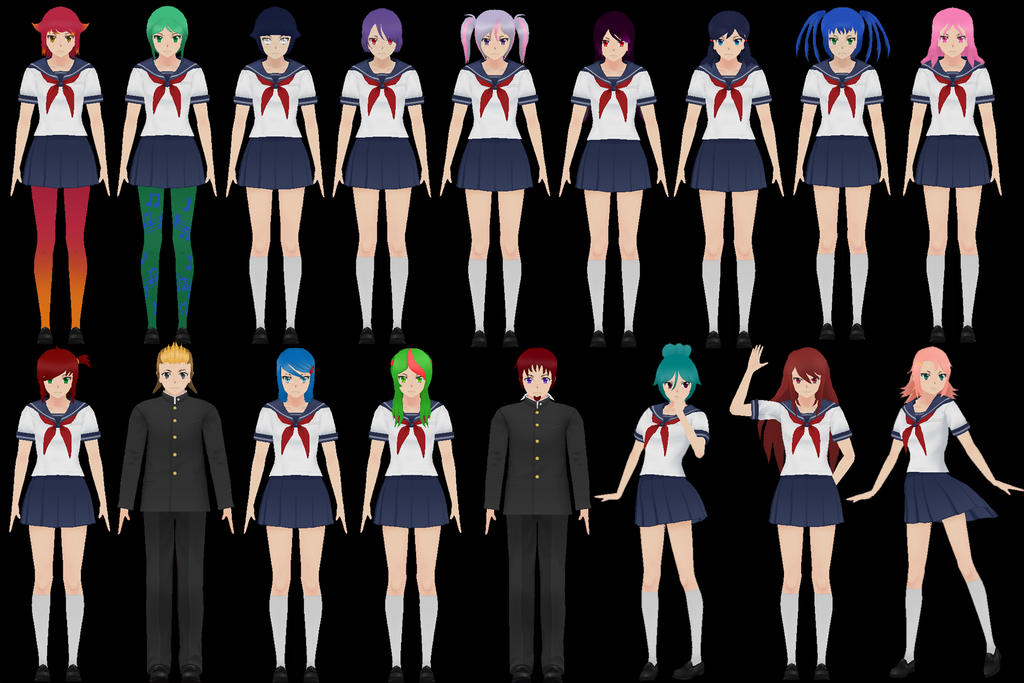 Yandere Simulator All Students Pictures To Pin On