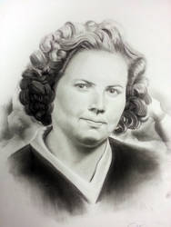 Pencil and charcoal portrait by anabidingflaw