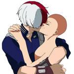 Todoroki x kiss base by Basemakerofdarkness