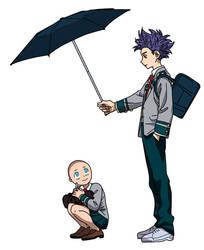 Shinsou x umbrella base by Basemakerofdarkness