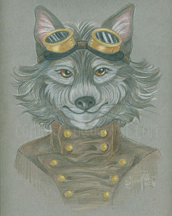 Steam Wolf by Faeriedreamer