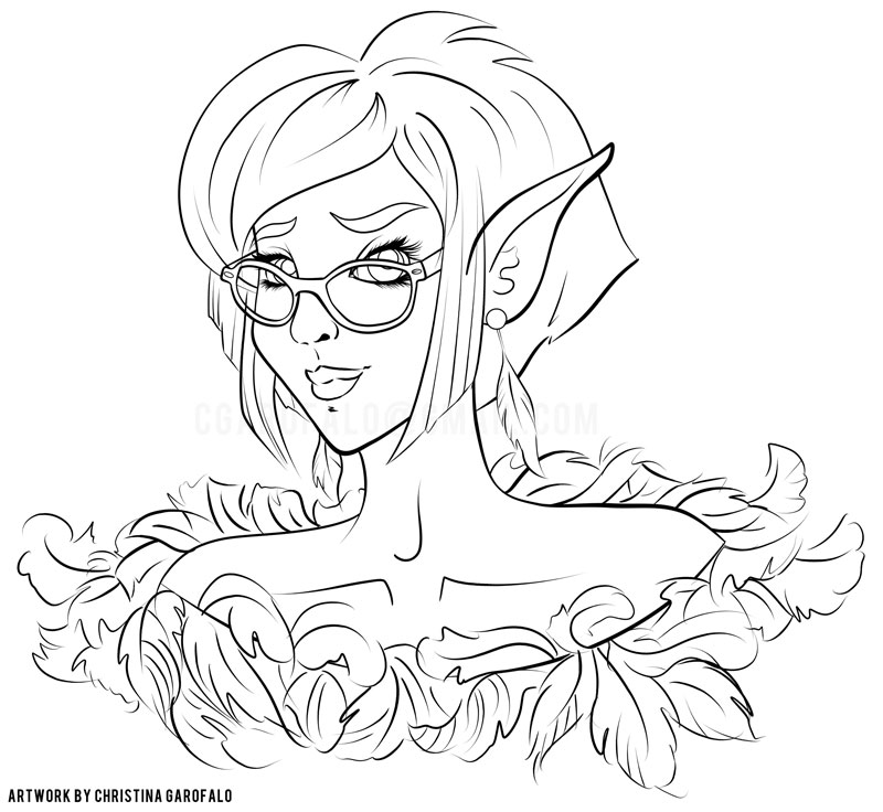 Feathered-Fashion: Percy: Lineart by Faeriedreamer