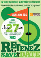 Golf Swing 2013 Save the Date by Faeriedreamer