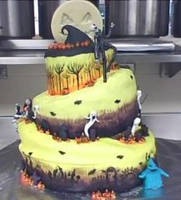 nightmare before christmas cak by whitestar08