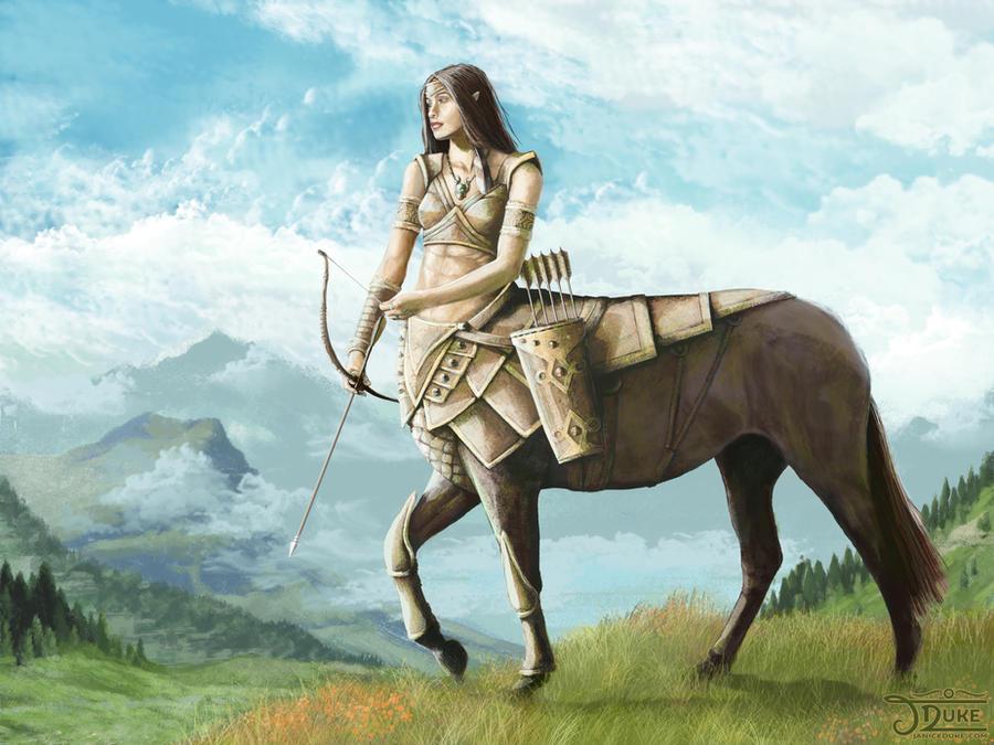 Centaur Huntress By Janiceduke On Deviantart
