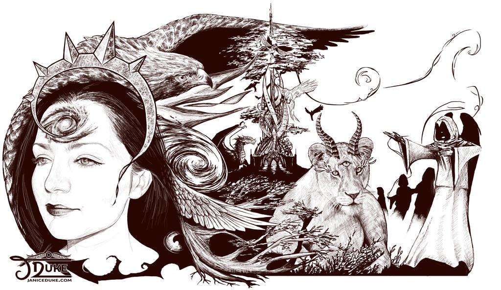 Spiral sketch by JaniceDuke