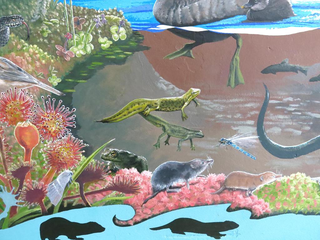 Finished Mural detail 5 by JaniceDuke