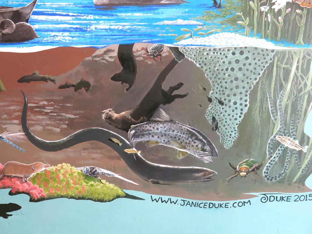 Finished Mural detail 6 by JaniceDuke