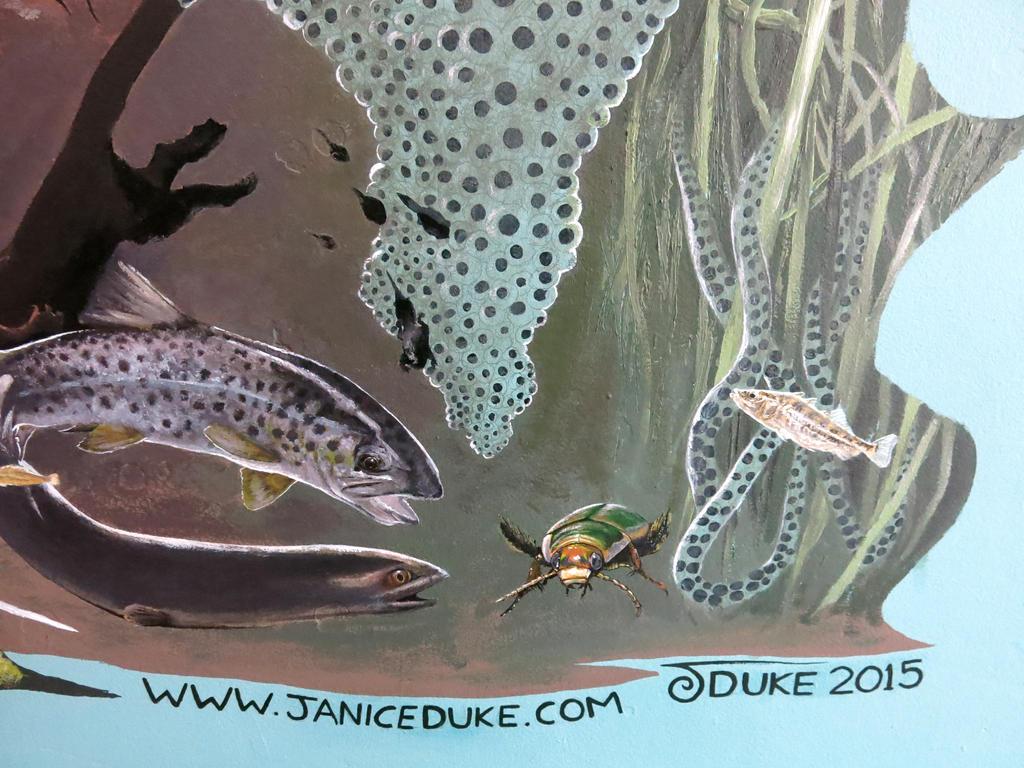 Finished Mural detail 7 by JaniceDuke
