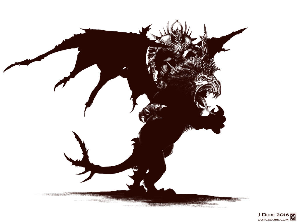 Chaos Lord on Manticore bw
