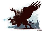 Karl Franz riding Deathclaw