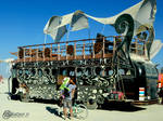 Burning Man 2012 - Art-Bus by Day