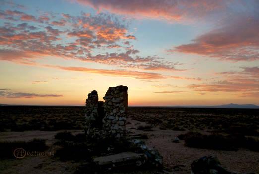 Early Mojave Settlement - Sunset