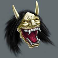 hannya noh mask by theryancardinal