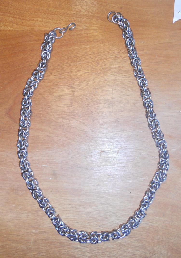 Steel Byzantine Necklace by simplysyd