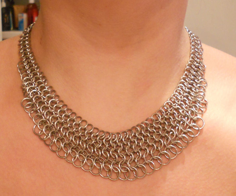 Stainless Fanned Necklace10-2014 by simplysyd