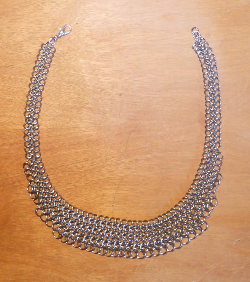 Stainless Fanned Necklace10-2014-2 by simplysyd