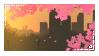 Sunset Sakura Stamp by V-Mordecai