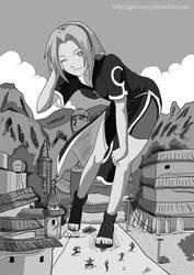 Giantess Ninja Sakura by giorunog