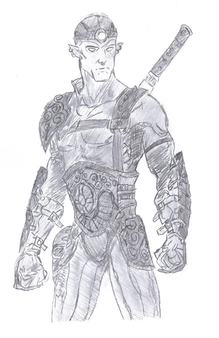 Elf warrior by DiMsHiK