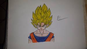 Dragon ball - goku | hand draw by Emariami