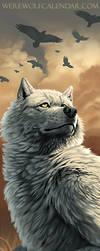 Werewolf Calendar Bookmark by Kyndir