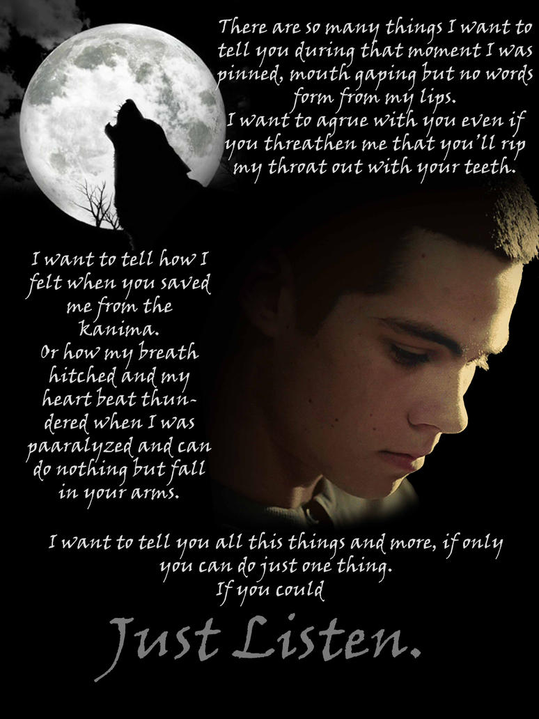 Stiles Stilinski Drowning Quote Quotes