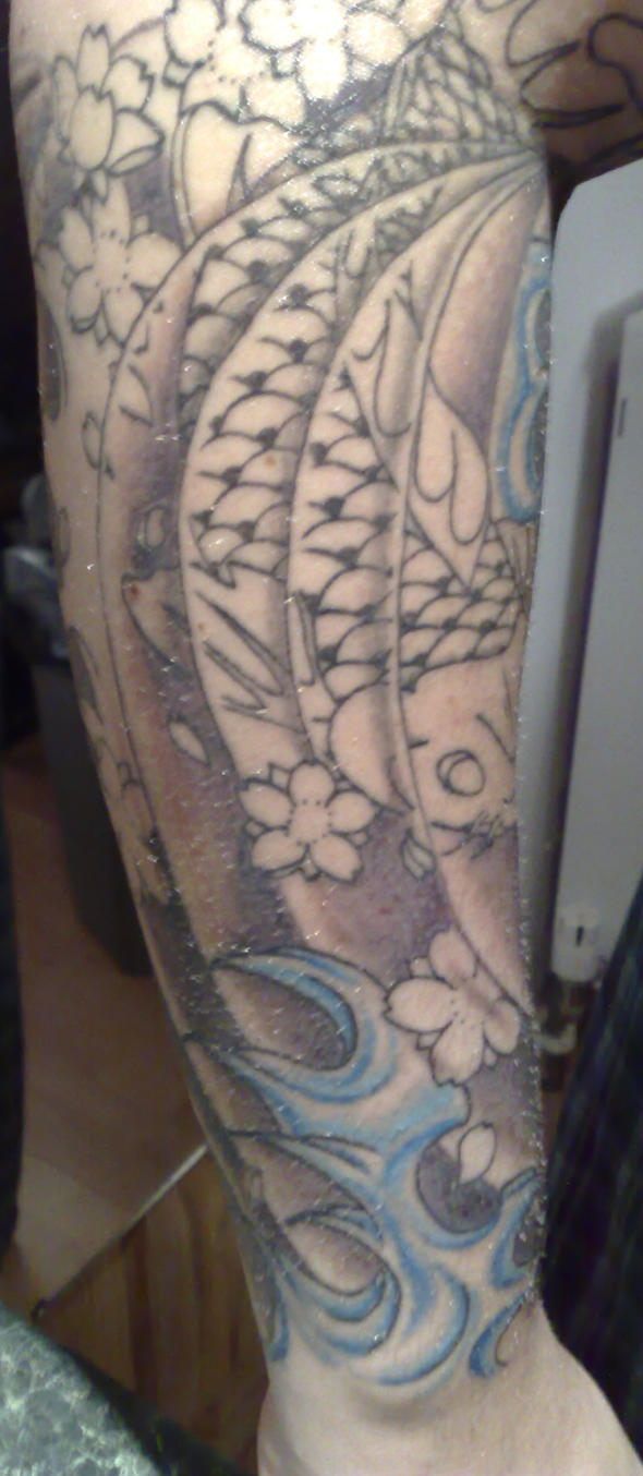 Jap sleeve so far - sleeve tattoo
