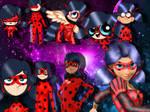 Ladybug in 9 styles Miraculous Ladybug [SpeedEdit]