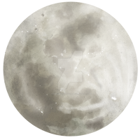 Moon - painted