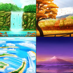 Environment sketches by Bear1037