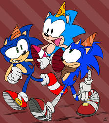 Sonic Show 25th Art: Sonic! by Piggybank12