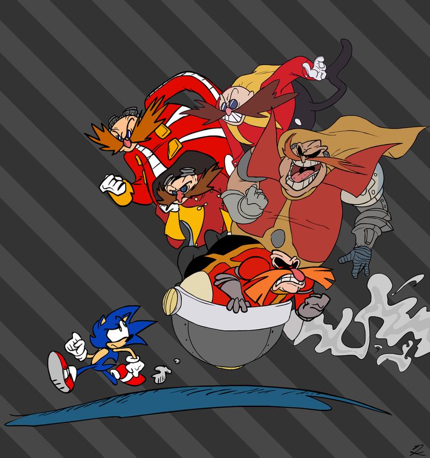 Sonic Show 25th Art: Robotnik/Eggman! by Piggybank12